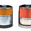 Oil filters, clipping path — Stock Photo