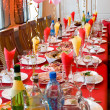 Banquet restaurant table — Stock Photo