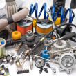 Lots of auto parts — Stock Photo