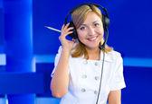 Female dispatcher — Stock Photo