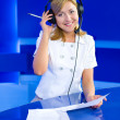 Woman dispatcher — Stock Photo