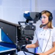 Teleoperator at TV studio — Stock Photo #3562286