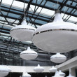 Lots of big ceiling lamps — Stock Photo