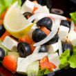 Greek salad, macro — Stock Photo