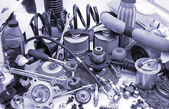 Lots of auto parts — Stockfoto