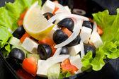 Greek salad, macro — Stock Photo