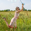 Happy girl in field — Stock Photo #3779830