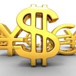 Yen, dollar, euro. Signs — Stock Photo #3475252