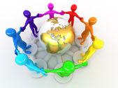 Groep rond van aarde — Stockfoto