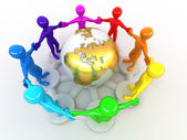 Group of around of earth — Stock Photo