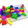 Puzzle build USA. — Stock Photo #3516220