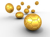 Group of balls. Soccer — Stock Photo