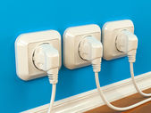 Plugs and sockets — Foto Stock