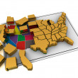 Puzzle build USA. — Stock Photo #3586620