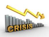 Diagram. Crisis — Stock Photo