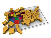 Puzzle build USA. — Stock Photo