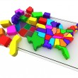 Stock Photo: Puzzle build USA.