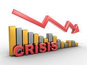 Diagrama. crise — Foto Stock