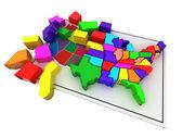 Puzzle build USA. — Stock Photo