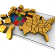 Puzzle build USA. — Stock Photo #3695735