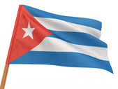 Flag fluttering in the wind. Cuba — Stock Photo