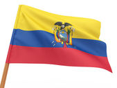 Flag fluttering in the wind. Equador — Stock Photo