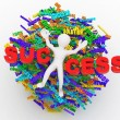 Conceptual image of success — Stock Photo