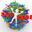 Conceptual image of success - Stock Photo