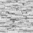Abstract background from words success. 3d — Stock Photo