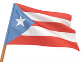 Flag fluttering in the wind. Puerto-Rico — Stock Photo