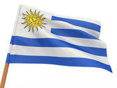 Flag fluttering in the wind. Uruguay — Stock Photo