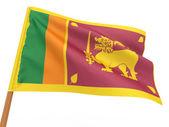 Flag fluttering in the wind. Sri-Lanka. — Stock Photo