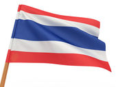 Flag fluttering in the wind. Thailand — Stock Photo