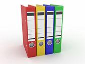 Archive. Many folders on white isolated background — Stock Photo