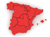 Three-dimensional map of Spain. 3d — Stock Photo
