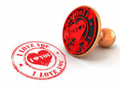 Stamp i love you on white isolated background — Stock Photo