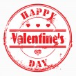 Stamp happy valentine's day and i love you. — Foto Stock