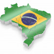 Map of Brazil in Brazilian flag colors — Stock Photo #4737245