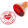 Stamp i love you on white isolated background — Stock Photo #4801843