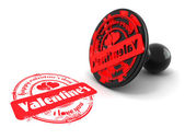 Stamp happy valentine's day — Stock Photo