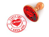 Stamp i love you on white isolated background — Foto de Stock