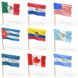 Flags of american country. Collection 4. - Stock Photo