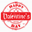 Stamp happy valentine's day — Foto Stock