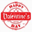 Stamp happy valentine's day — Foto de Stock
