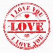 Postal stamp i love you. Vector — Foto Stock