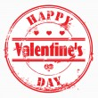Stamp happy valentine's day and i love you. — 图库照片