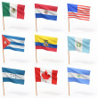 Stock Photo: Flags of american country. Collection 4.