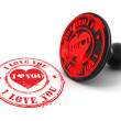 Stamp i love you on white isolated background — Stock Photo #5055398