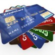 Stock Photo: Stack of credit cards