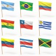 Flags of american country. Collection 3. — Stock Photo